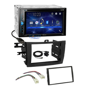 Pioneer 2018 DVD Bluetooth Stereo Dash Kit Harness for 2009-13 Toyota Corolla