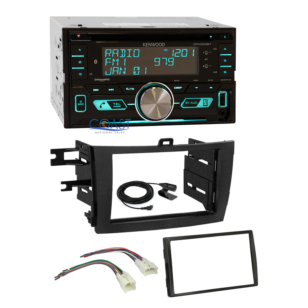 Kenwood CD Sirius Bluetooth Stereo Dash Kit Harness for 2009-13 Toyota Corolla