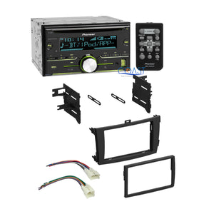 Pioneer Bluetooth Radio Stereo + Dash Kit Harness for 2009-2013 Toyota Corolla