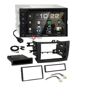 Kenwood DVD BT Sirius Spotify Stereo Dash Kit Harness for 09-13 Toyota Corolla