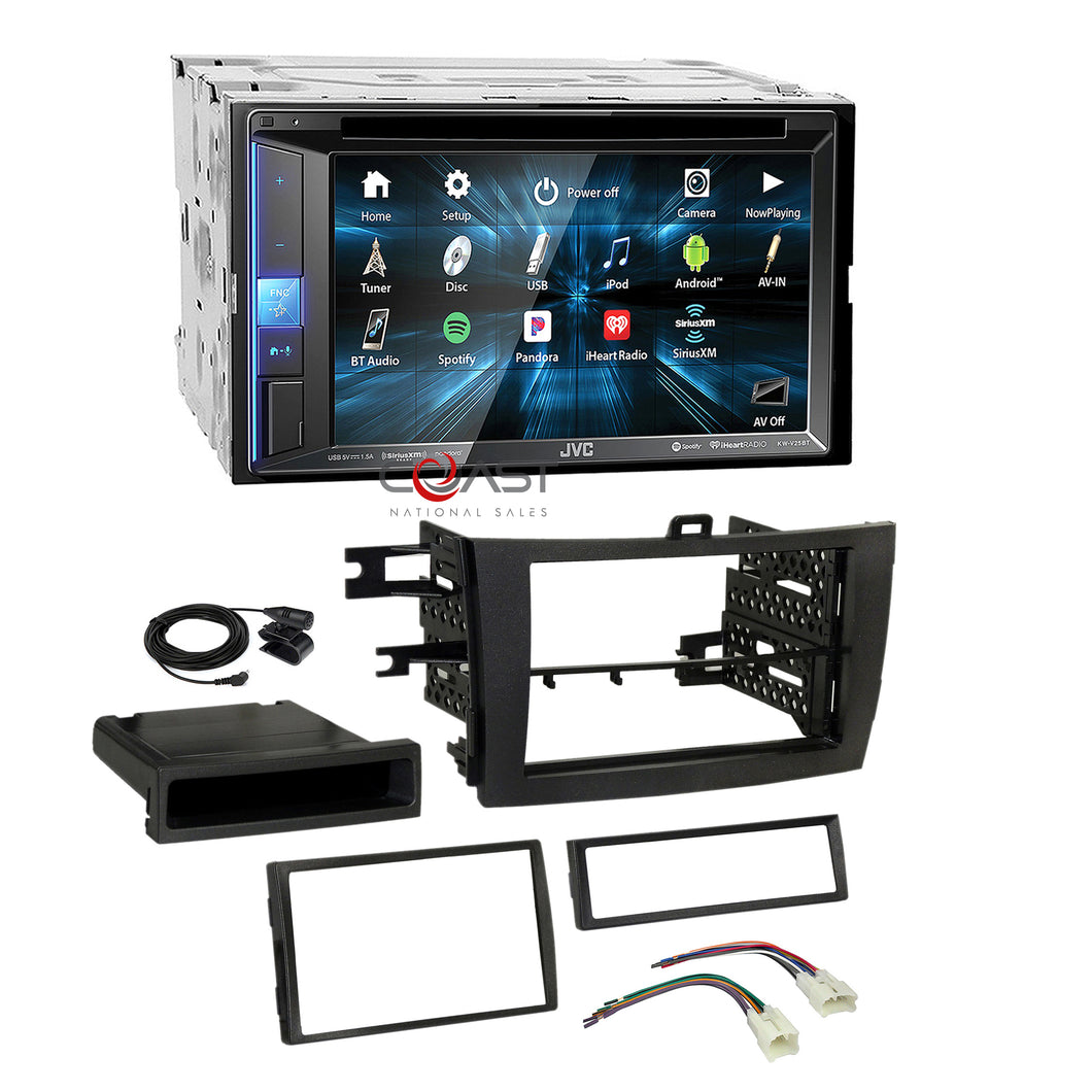 JVC DVD Sirius BT Camera Input Stereo Dash Kit Harness for 09-13 Toyota Corolla