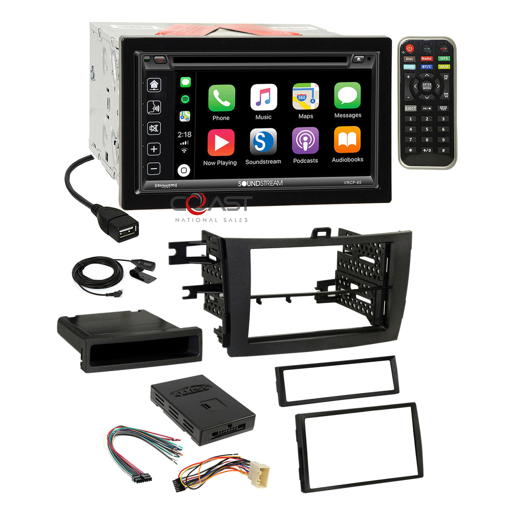 Soundstream DVD BT Carplay Stereo Dash Kit JBL Harness for 09-11 Toyota Corolla