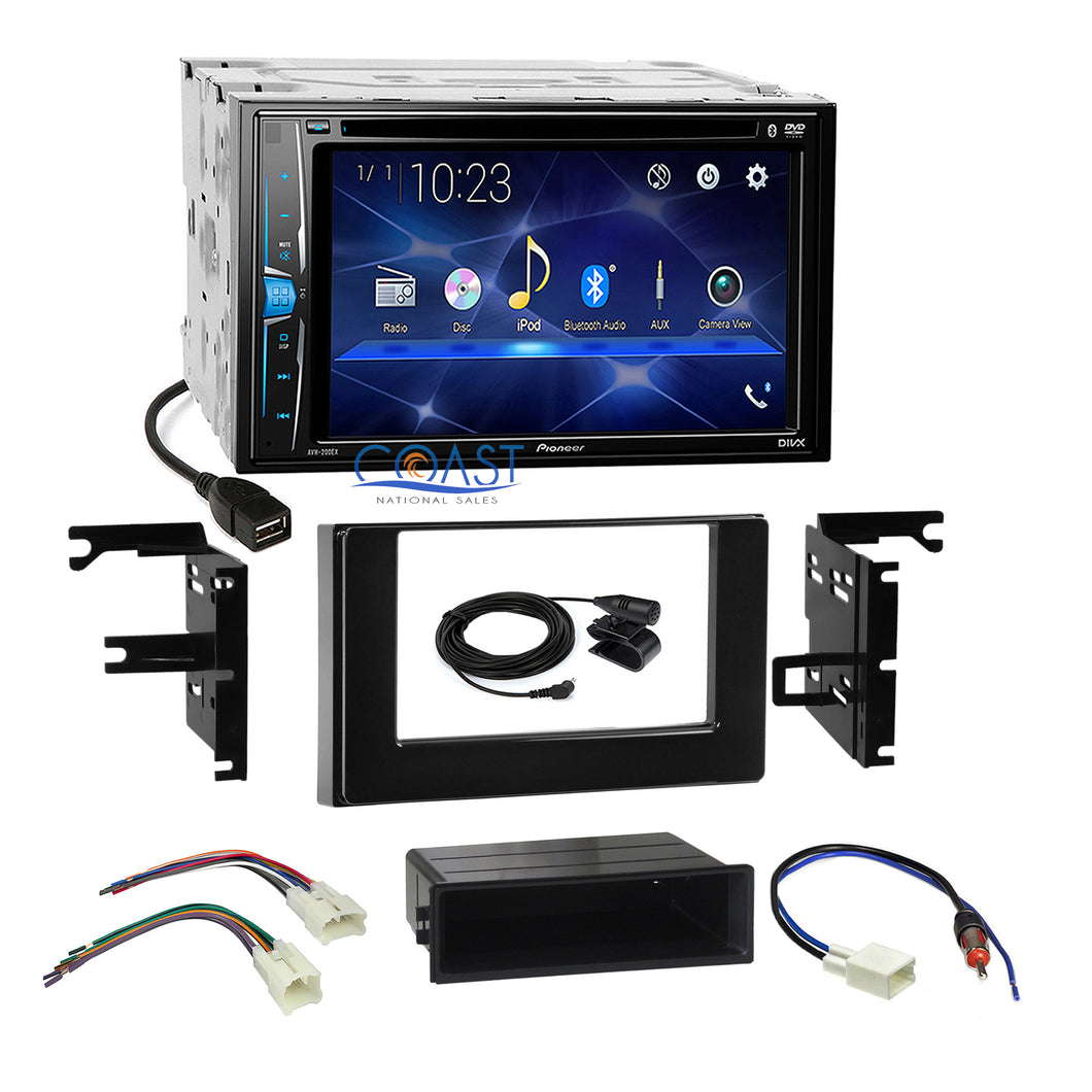 Pioneer 2018 Bluetooth Radio Gloss Blk Dash Kit Harness for 2017 Toyota Corolla
