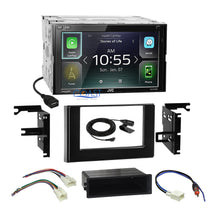 Load image into Gallery viewer, JVC Carplay Android Auto Stereo Gloss Dash Kit Harness for 2017 Toyota Corolla