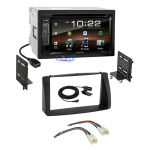 Kenwood DVD Sirius Bluetooth Stereo Dash Kit Harness for 2003-08 Toyota Corolla