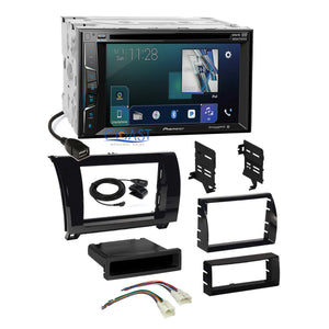 Pioneer Sirius AppRadio Stereo Gloss Dash Kit Harness for Toyota Tundra Sequoia