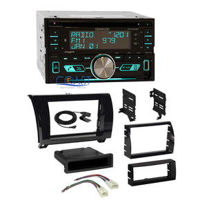 Kenwood CD Sirius Stereo Gloss Dash Kit Harness for 2007+ Toyota Tundra Sequoia
