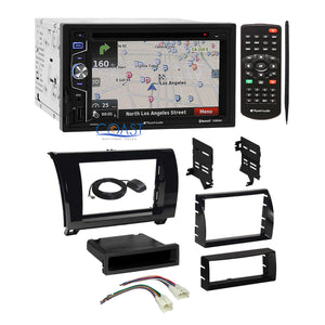 Planet Audio DVD GPS Radio Gloss Dash Kit Harness for 07+ Toyota Tundra Sequoia