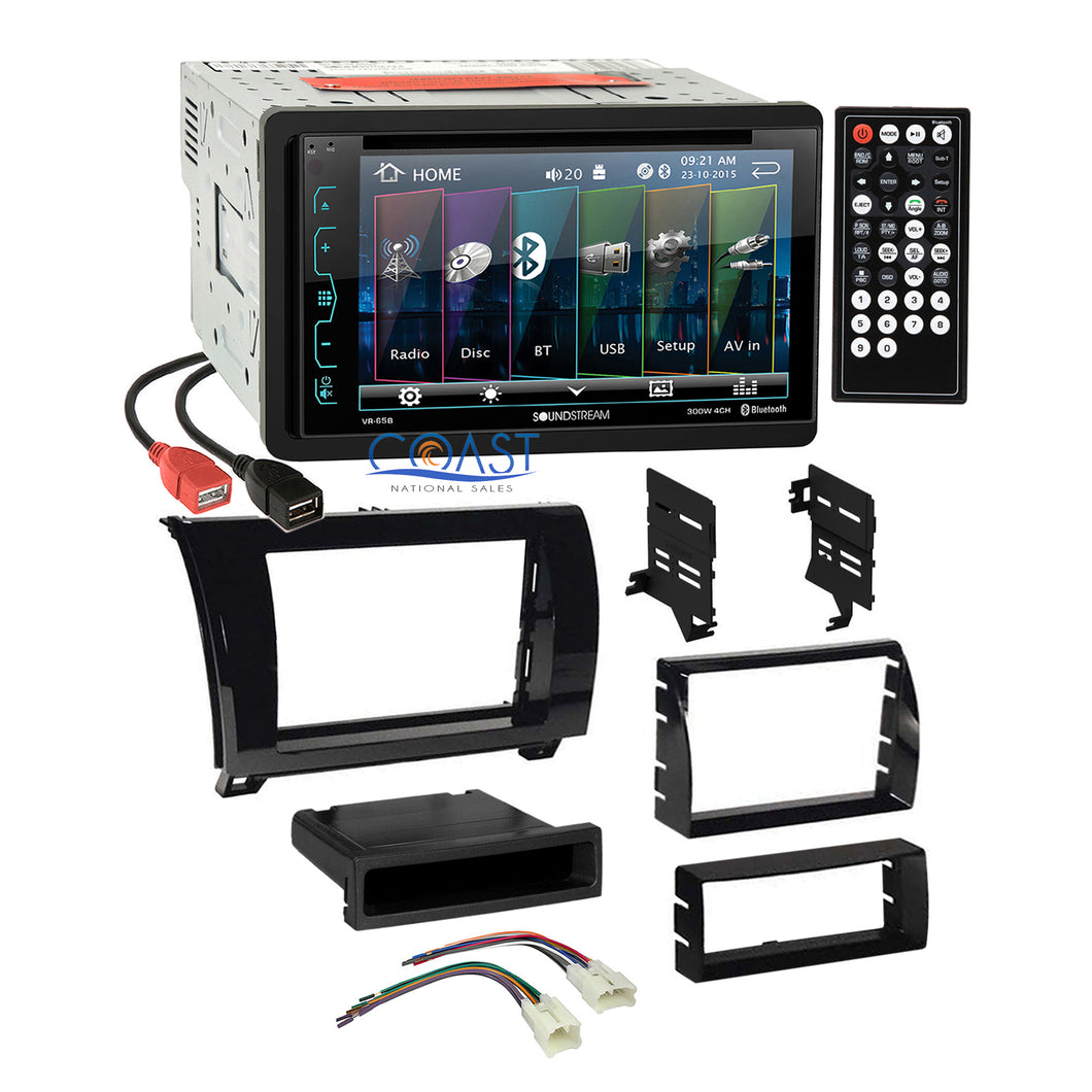 Soundstream Dual USB Stereo Gloss Dash Kit Harness for Toyota Tundra Sequoia