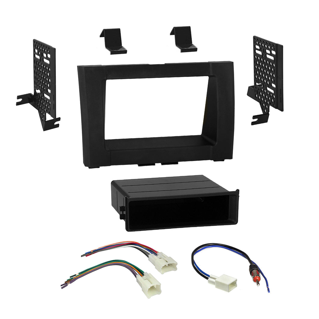 Car Radio Stereo Single 2 Din Dash Kit Wire Harness for 2014-up Toyota Tundra