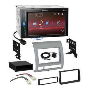 Pioneer 2018 USB Multimedia Stereo Dash Kit Harness for 2005-2011 Toyota Tacoma