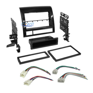 Car Radio Stereo Din 2Din Dash Kit Harness for 2012-2015 Toyota Tacoma
