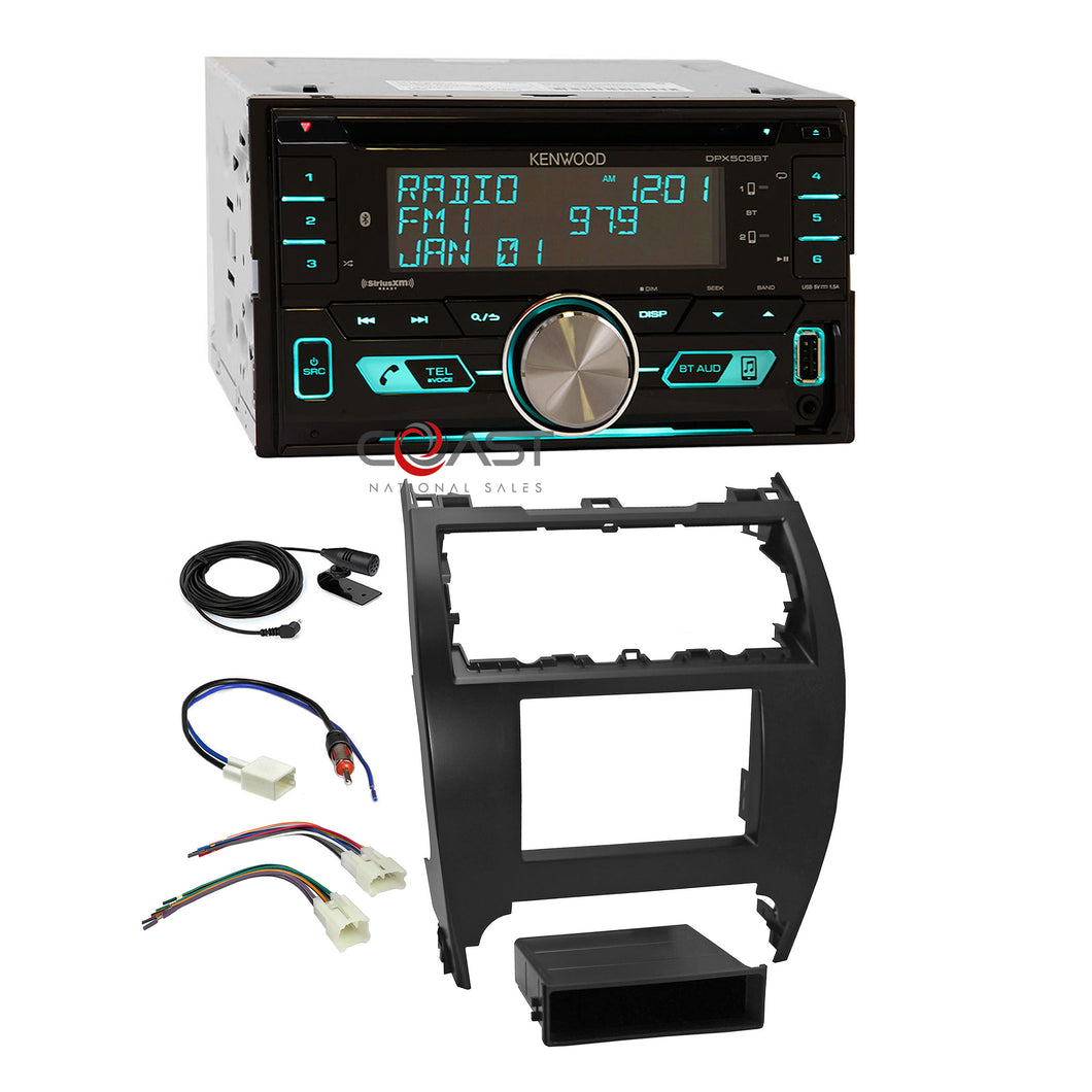 Kenwood CD UBS Sirius Bluetooth Stereo Dash Kit Harness for 12-14 Toyota Camry