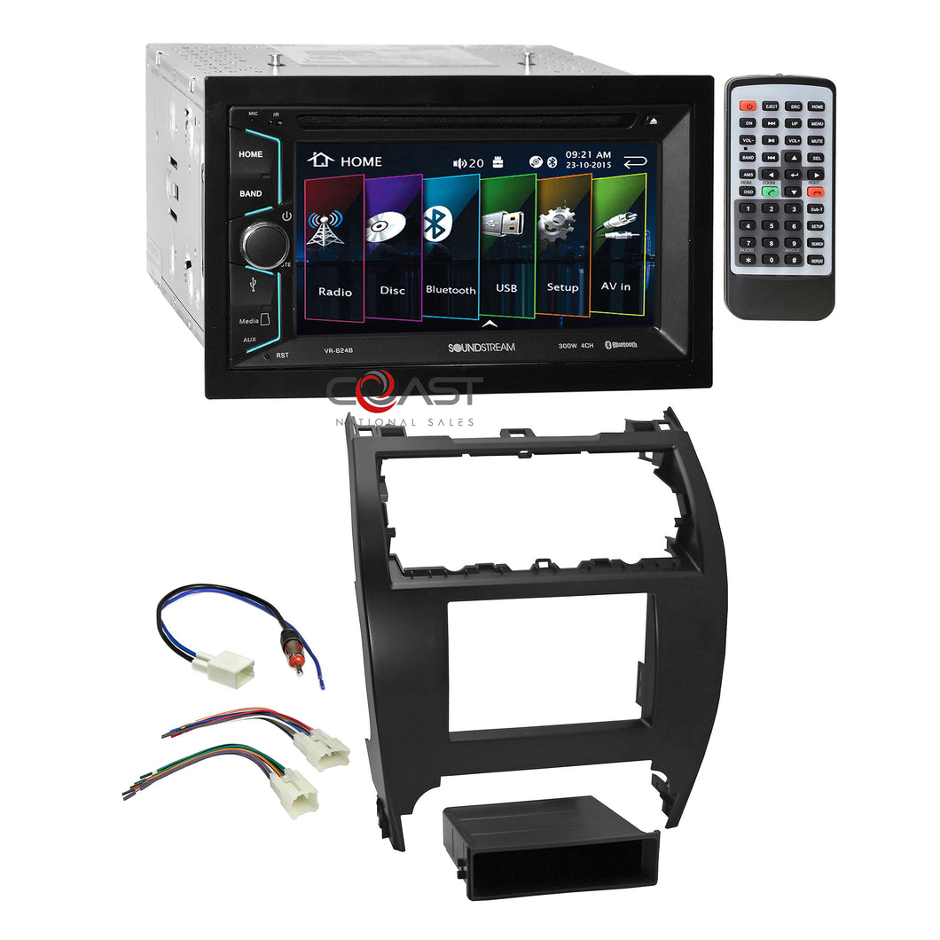 Soundstream 2018 DVD Bluetooth Stereo Dash Kit Harness for 2012-14 Toyota Camry
