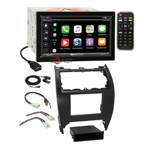 Soundstream DVD Sirius Carplay Stereo Dash Kit Harness for 2012-14 Toyota Camry