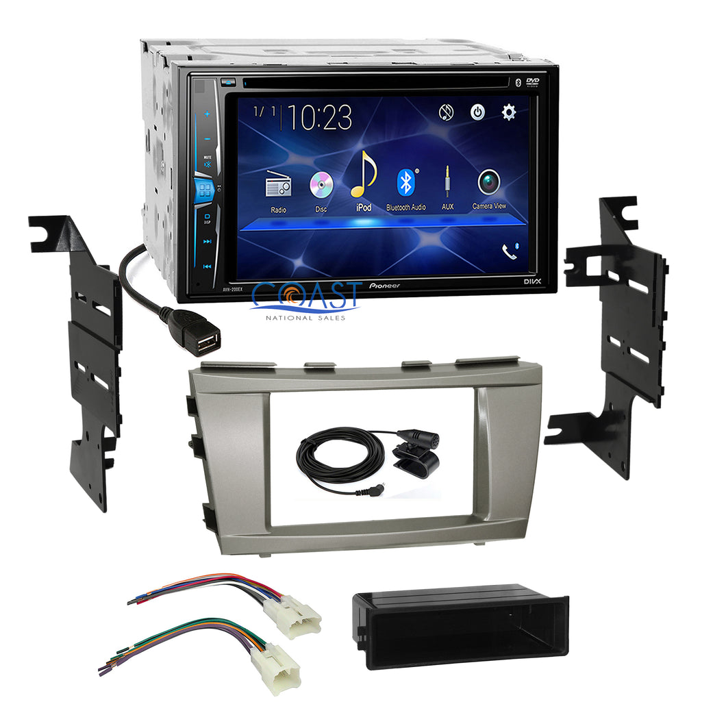 Pioneer 2018 DVD Bluetooth Stereo Dash Kit Harness for 2007-2011 Toyota Camry
