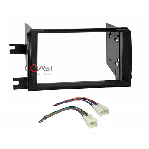 Car Radio Stereo 2 Din Dash Kit Harness for 2009-10 Toyota Matrix Pontiac Vibe