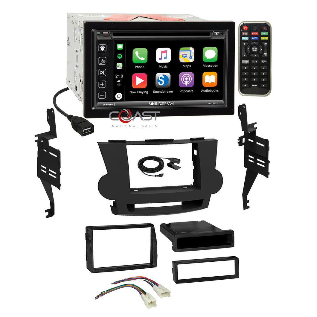 Soundstream Bluetooth Carplay 2Din Dash Kit Harness for 08-13 Toyota Highlander