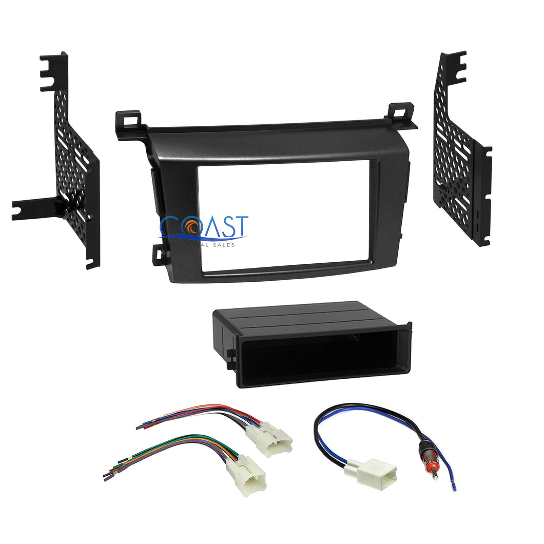 Car Radio Stereo Din 2 Din Dash Kit Wire Harness for 2013-up Toyota RAV4 RAV 4
