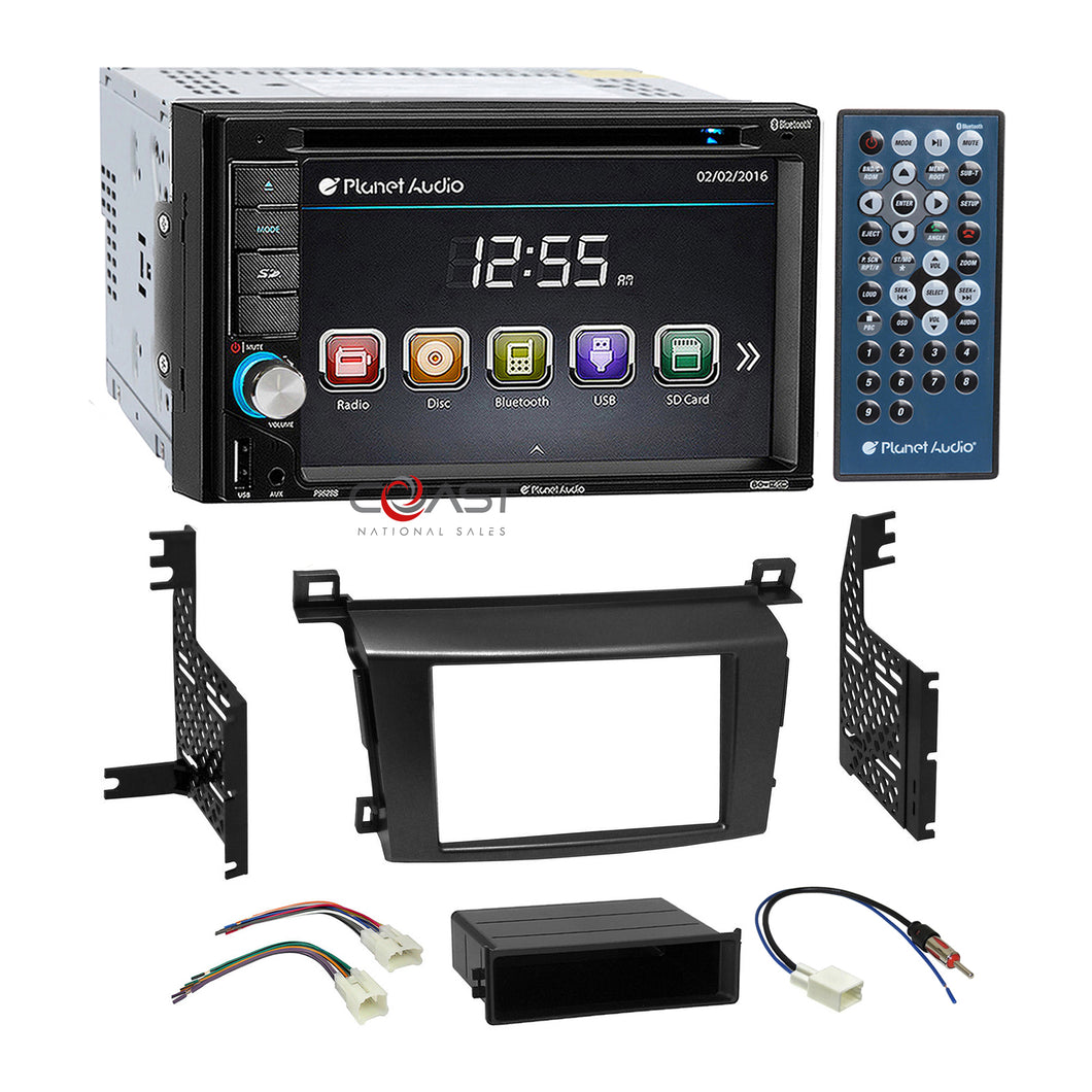Planet Audio DVD USB Bluetooth Stereo Dash Kit Harness for 13-14 Toyota RAV4