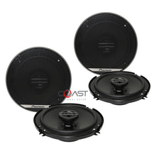 "Load image into Gallery viewer, 2X Pioneer 6.5"" 600W Max 2-Way Coaxial Flush Mount Car Speaker System TS-G1620F"
