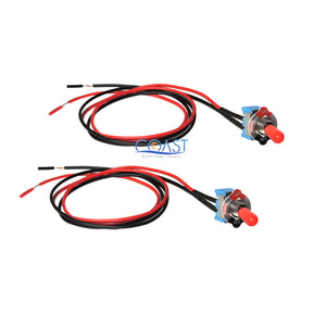 "2X Car Trucks Home 6A 125v / 3A 250V Mini Toggle Switch On/Off with 18"" Wire"