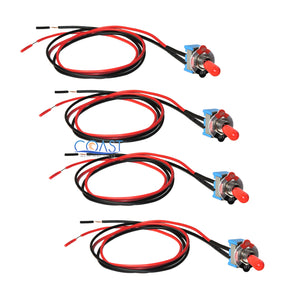 "4X Car Trucks Home 6A 125v / 3A 250V Mini Toggle Switch On/Off with 18"" Wire"
