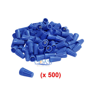 Straight Barrel Blue Screw Twist-on Wire Connectors 22-14 AWG - 500 PCS