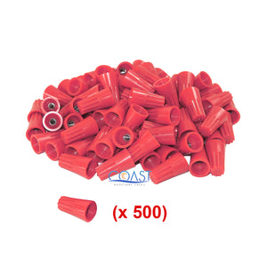 Straight Barrel Red Twist-on Wire Connector 16-10 AWG GA UL Listed - 500 PCS