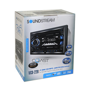 Soundstream 2018 CD USB MP3 SD Playback AUX Input Bluetooth Car Stereo Receiver