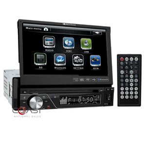 "Soundstream Bluetooth Radio 7"" Touchscreen Dash Kit Harness For 2006-10 Mazda 5"