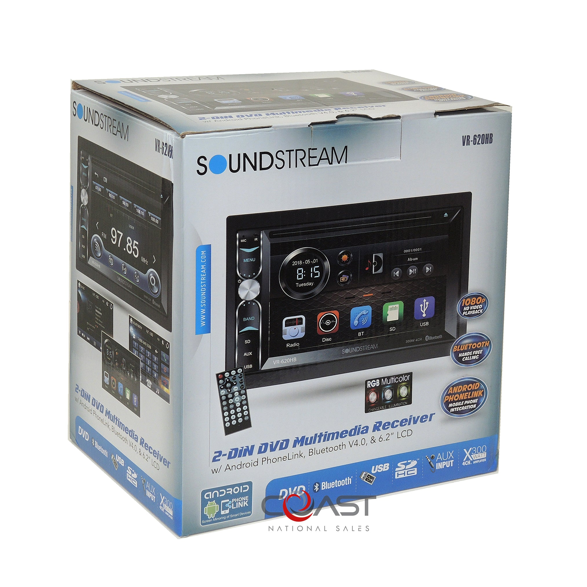 SOUNDSTREAM STEREO BLUETOOTH USB//AUX INPUTS W//INSTALL KIT NO CD FOR 06-08 SONATA