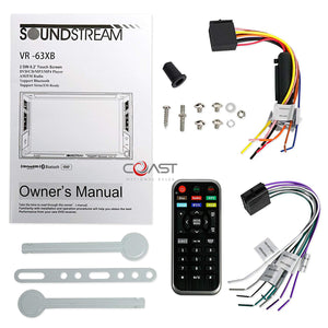 Soundstream DVD Sirius Stereo Dash Kit OnStar Harness for 03+ Cadillac CTS SRX