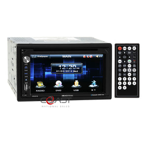Power Acoustik DVD USB MP3 Bluetooth Stereo Dash Kit Harness for 2009-14 Subaru