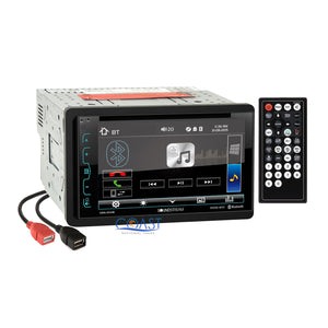 Soundstream DVD USB Bluetooth Stereo Dash Kit Amp Harness for 04+ Nissan Maxima