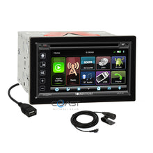 Load image into Gallery viewer, Soundstream 2018 DVD Carplay Stereo Sil Dash Kit Harness for 08-13 Nissan Titan