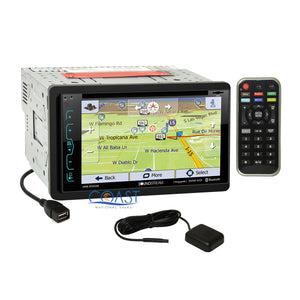 Soundstream DVD Sirius GPS Stereo Gry Dash Kit SWC Harness for 06+ Honda Civic