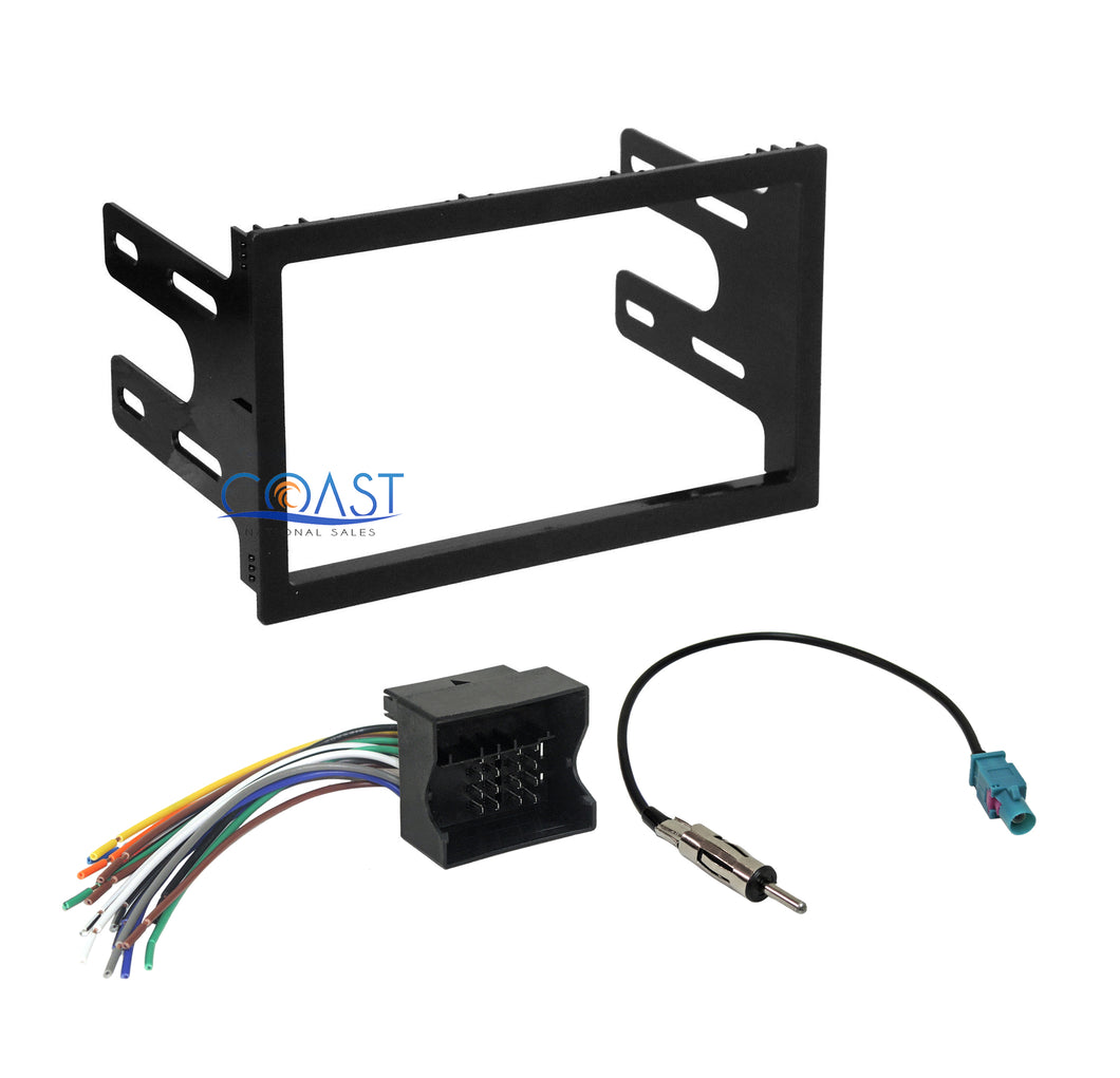 Car Radio Stereo Double Din Dash Kit Harness for 2002-07 VW Jetta Golf Passat