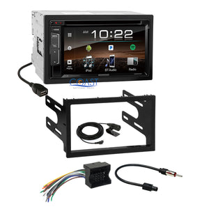 Kenwood Sirius Bluetooth Stereo Dash Kit Harness for 02+ VW Jetta Golf Passat