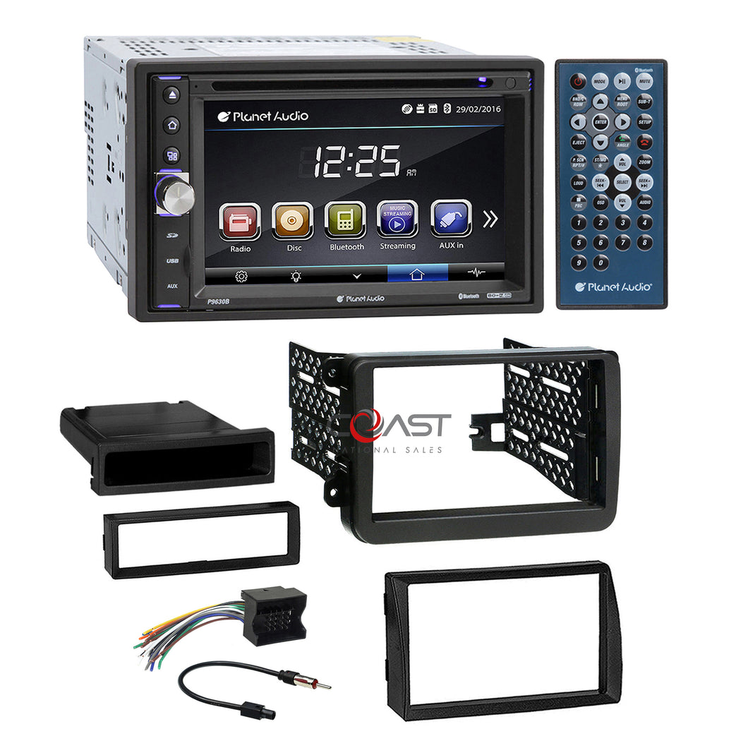 Planet Audio DVD MP3 USB Bluetooth Stereo Dash Kit Harness for 2006+ Volkswagon