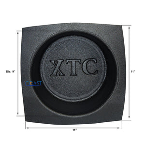 "2X Universal 10"" Black Round Foam Acoustic Audio Stereo Speaker Baffles VXT102"