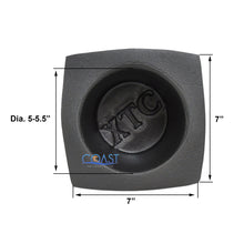 "Load image into Gallery viewer, Universal 5.25"" Black Round Foam Acoustic Car Audio Stereo Speaker Baffles VXT55"