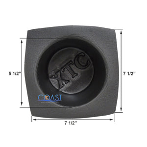 "Universal 6.5"" Black Round Foam Large Frame Audio Speaker Baffles VXT60"