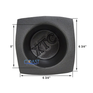 "Universal 6.5"" Black Round Foam Acoustic Car Audio Stereo Speaker Baffles VXT65"