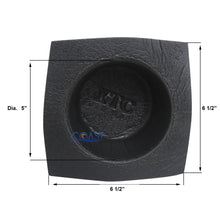 "Load image into Gallery viewer, Universal 6.5"" Black Round Foam Acoustic Audio Stereo Speaker Baffle VXT652"