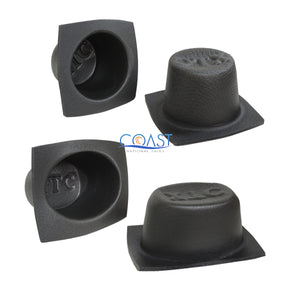 "Universal 5.25"" & 6""x 8"" Black Foam Acoustic Car Speaker Baffle Set VXT55 VXT68"