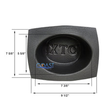 "Load image into Gallery viewer, Universal 6""x 8"" Black Foam Acoustic Car Audio Stereo Speaker Baffles VXT68"