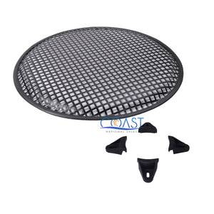 "2X 15"" SubWoofer Metal Mesh Cover Waffle Speaker Grill Protect Guard Car Audio"