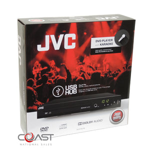 JVC Multi-Region Dolby Audio DVD Player Plug And Play USB MP3 W/ Karaoke