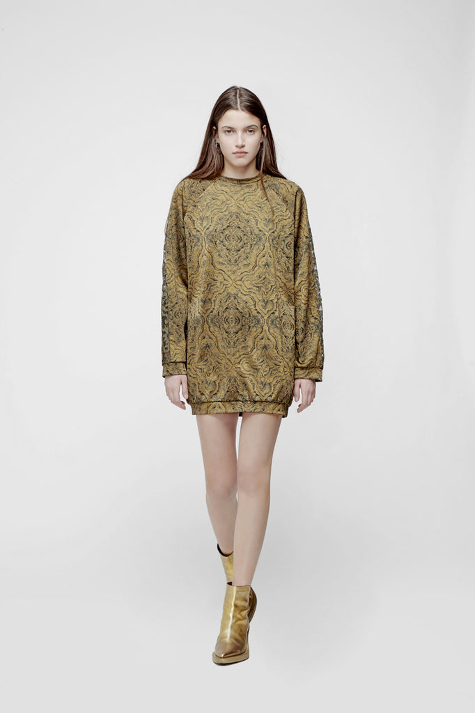 JACQUARD MINI-DRESS